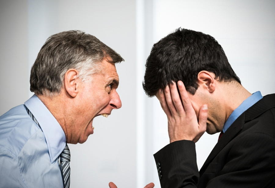 hypnotherapy for anger management in Your Town - boss shouting at employee